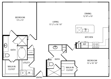 two bedroom apartments in the galleria area