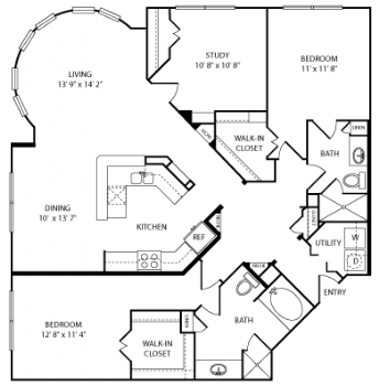 Two bedroom apartments for rent in Houston