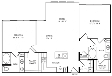 B5 - TWO BED TWO BATH 1297