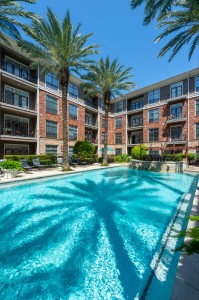 One Bedroom Apartments for Rent in Houston, TX - Pool with Fountains & Pool Patio