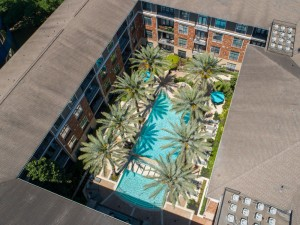 Two Bedroom Apartments in Houston, Texas - Aerial View of Community Pool