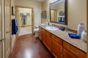 Two Bedroom Apartments for Rent in Houston, TX - Model Bathroom & Walk-In Closer